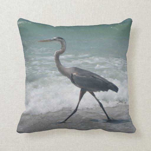 Blue Heron Throw Pillows : Blue Heron Throw Pillows Zazzle