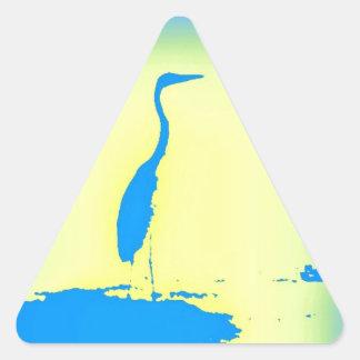 blue heron triangle sticker