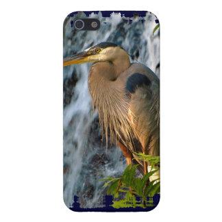 Blue Heron, Wading Bird, Waterfall,Heron Design Case For iPhone SE/5/5s