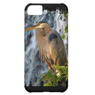 Blue Heron, Wading Bird, Waterfall,Heron Design Cover For iPhone 5C