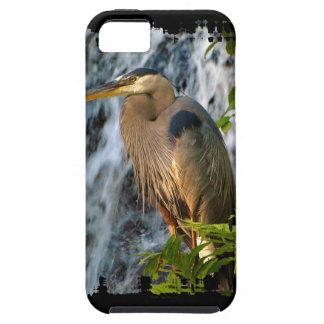 Blue Heron, Wading Bird, Waterfall,Heron Design iPhone SE/5/5s Case