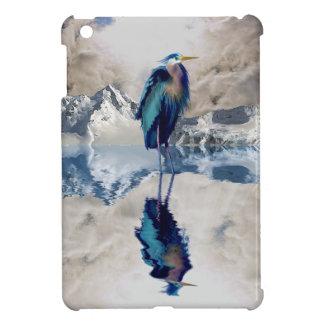 Blue Heron Wading Bird Wildlife design iPad Mini Case