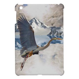 Blue Heron Wading Bird Wildlife design iPad Mini Cases