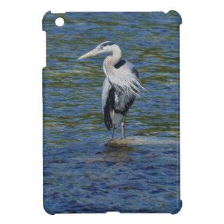 Blue Heron Wading Bird Wildlife design iPad Mini Covers
