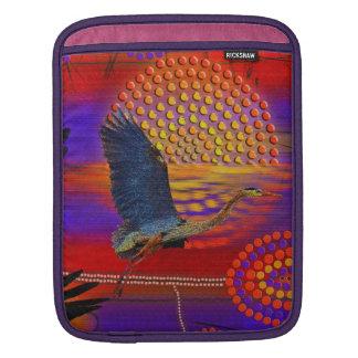 Blue Heron Wading Bird Wildlife design iPad Sleeve