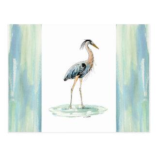 Blue Heron watercolor Postcard