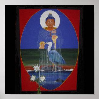 Blue Heron Zen Buddhist Centre Art Poster