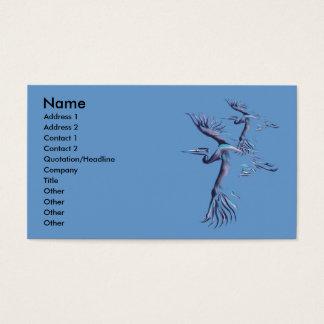 Blue Herons In Flight Profile Card