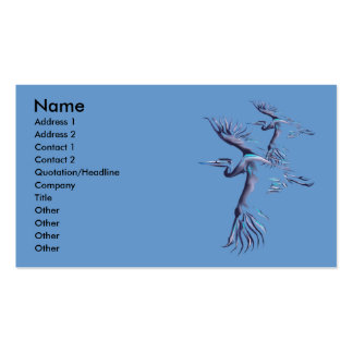 Blue Herons In Flight Profile Card Business Card Templates