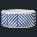 "Blue Herringbone Bowl<br><div class=""desc"">Blue Herringbone</div>"