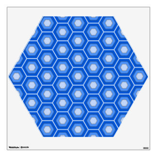 Blue Hex Tiled Wall Decal