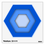 Blue Hex Wall Decal