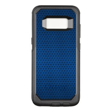 Aztec Themed Blue Hexagonal Carbon Fiber Honeycomb Mesh OtterBox Commuter Samsung Galaxy S8 Case