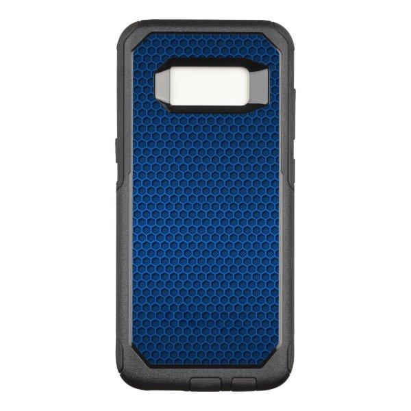 Blue Hexagonal Carbon Fiber Honeycomb Mesh OtterBox Commuter Samsung Galaxy S8 Case