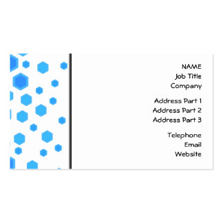 Blue Hexagons Pattern. Business Card