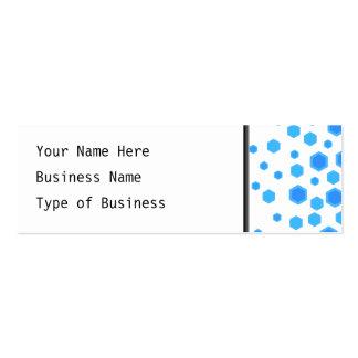 Blue Hexagons Pattern. Mini Business Card