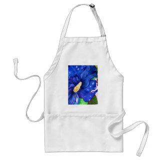 Blue Hibiscus Adult Apron