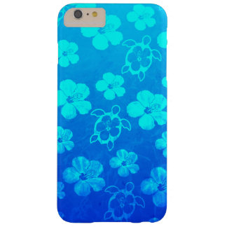Blue Hibiscus And Honu Turtles Barely There iPhone 6 Plus Case