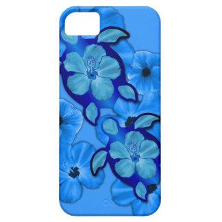 Blue Hibiscus And Honu Turtles iPhone 5 Cases