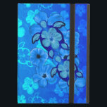 """Blue Hibiscus And Honu Turtles Cover For iPad Air<br><div class=""""desc"""">The Hawaiian Sea Turtle is a symbol of peace, good luck, and the spirit within. It is based on the Hawaiian legend of Kauila, a green sea turtle that could change into a girl and watch over the children of Hawaii. Tropical design with blue hibiscus and blue Hawaiian honu sea...</div>"""