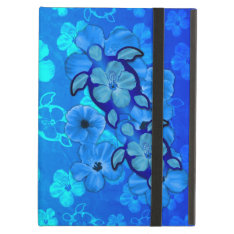 Blue Hibiscus And Honu Turtles Cover For Ipad Air at Zazzle