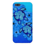 Blue Hibiscus And Honu Turtles Cover For iPhone 5/5S