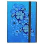 Blue Hibiscus And Honu Turtles iPad Air Cover