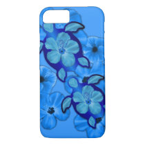 Blue Hibiscus And Honu Turtles iPhone 8/7 Case