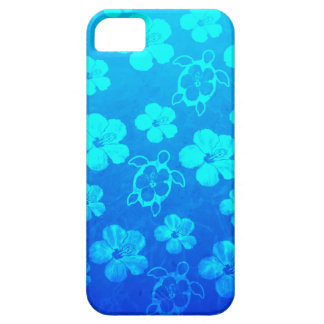 Blue Hibiscus And Honu Turtles iPhone SE/5/5s Case