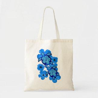 Blue Hibiscus And Honu Turtles Tote Bag