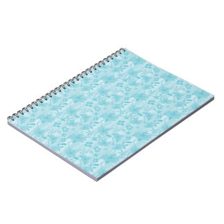 Blue Hibiscus Beach Pattern Notebook