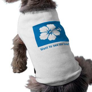 Blue Hibiscus Doggie Tank Top