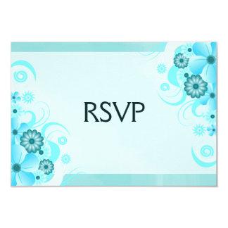 Blue Hibiscus Elegant Custom RSVP Response Cards