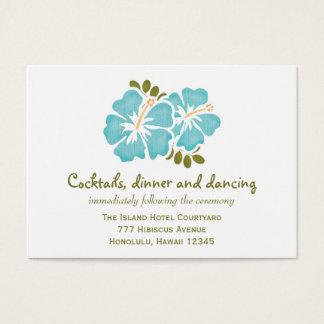 Blue Hibiscus Reception Enclosure Cards