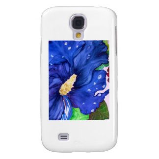 Blue Hibiscus Samsung Galaxy S4 Covers