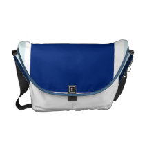 Blue Hide Messenger Bag