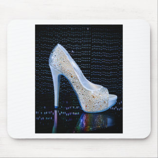 Blue High Heel Mouse Pad