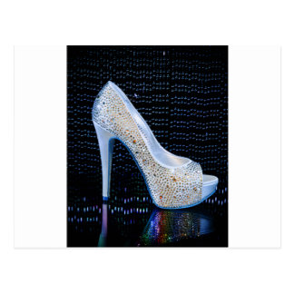 Blue High Heel Postcard