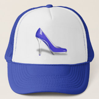 BLUE HIGH HEEL SHOE Trucker Hat