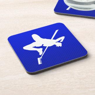 Blue High Jump Beverage Coaster