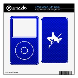 Blue High Jump iPod Video Skin