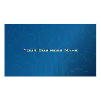Blue High tech Circuit Board business card
