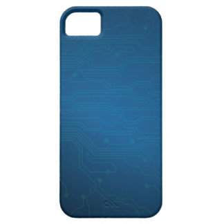 Blue High Tech Circuit Layout iPhone 5 Case