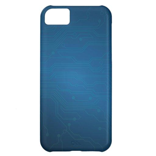 Blue High Tech Circuit Layout iPhone 5 Case