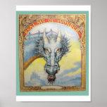Blue Highlord Dragon Print