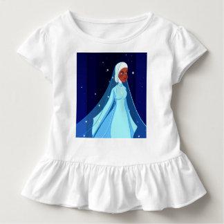 Blue Hijab Princess Ruffle Tee