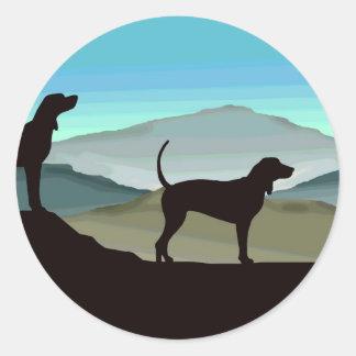 Blue Hills Coonhounds Classic Round Sticker