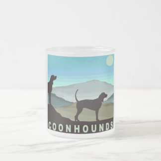 Blue Hills Coonhounds Frosted Glass Coffee Mug