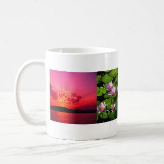 Blue hills, Water lilies, Sunset, name here Coffee Mug