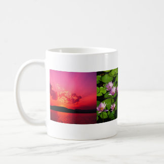 Blue hills, Water lilies, Sunset, name here Classic White Coffee Mug